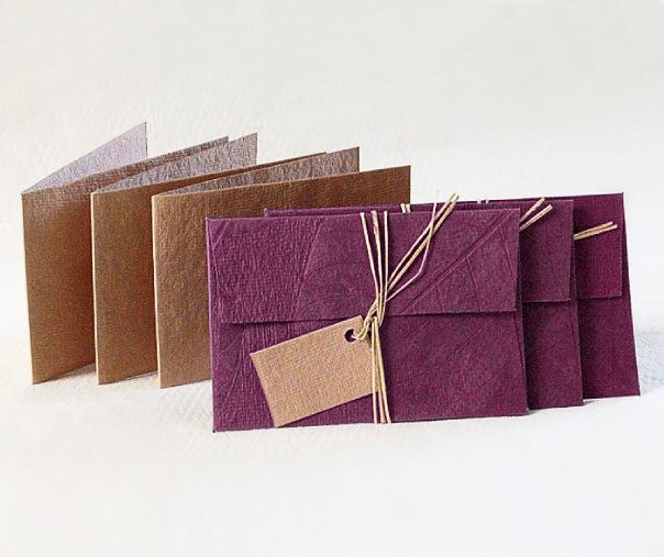 Geschenkkarten 3er-Set mit Umschlägen – Pflaume