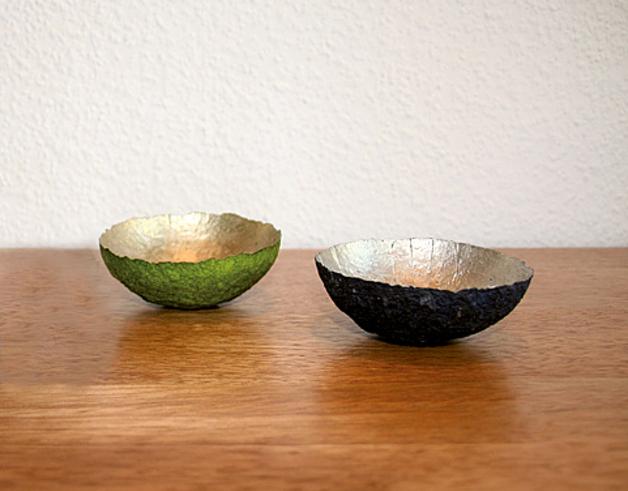 Deko- und Schmuckschale Grün/Gold