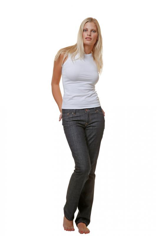 Faire Bio Damen Jeans mit goldener oder weißer Naht
