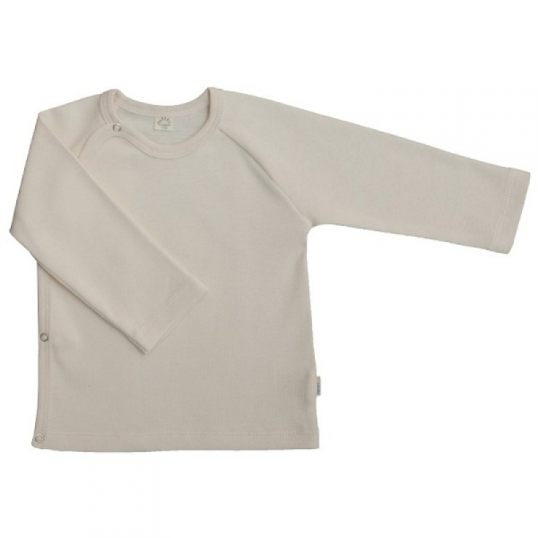 Langarm Baby Wickelhemd aus GOTS Bio-Baumwolle