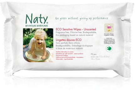 Naty Eco Feuchttücher sensitive + unparfümiert