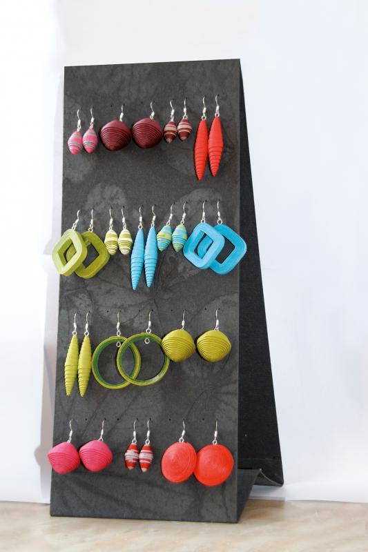 Ohrring-Display Ohrringständer schwarz (groß)