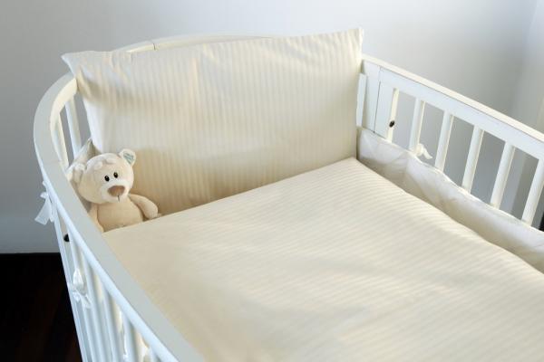 Bio Kinder-Bettwäsche Satinstreifen