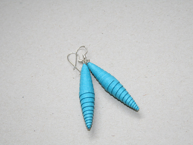Ohrringe Meerblau-Türkis aus Öko Papier
