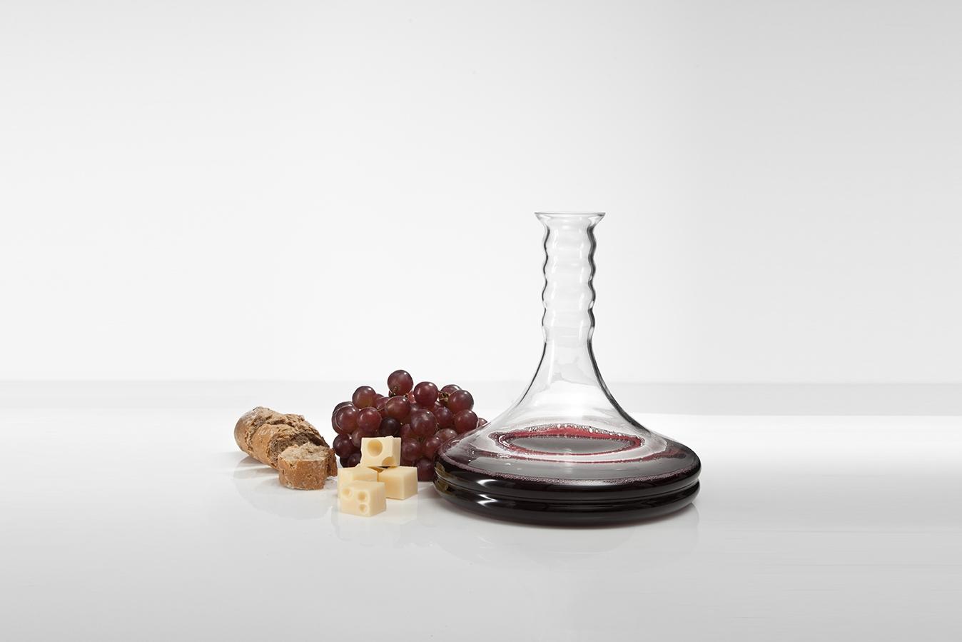 Weinkaraffe Rubellum 1.0 l, mit Lebensblume weiß