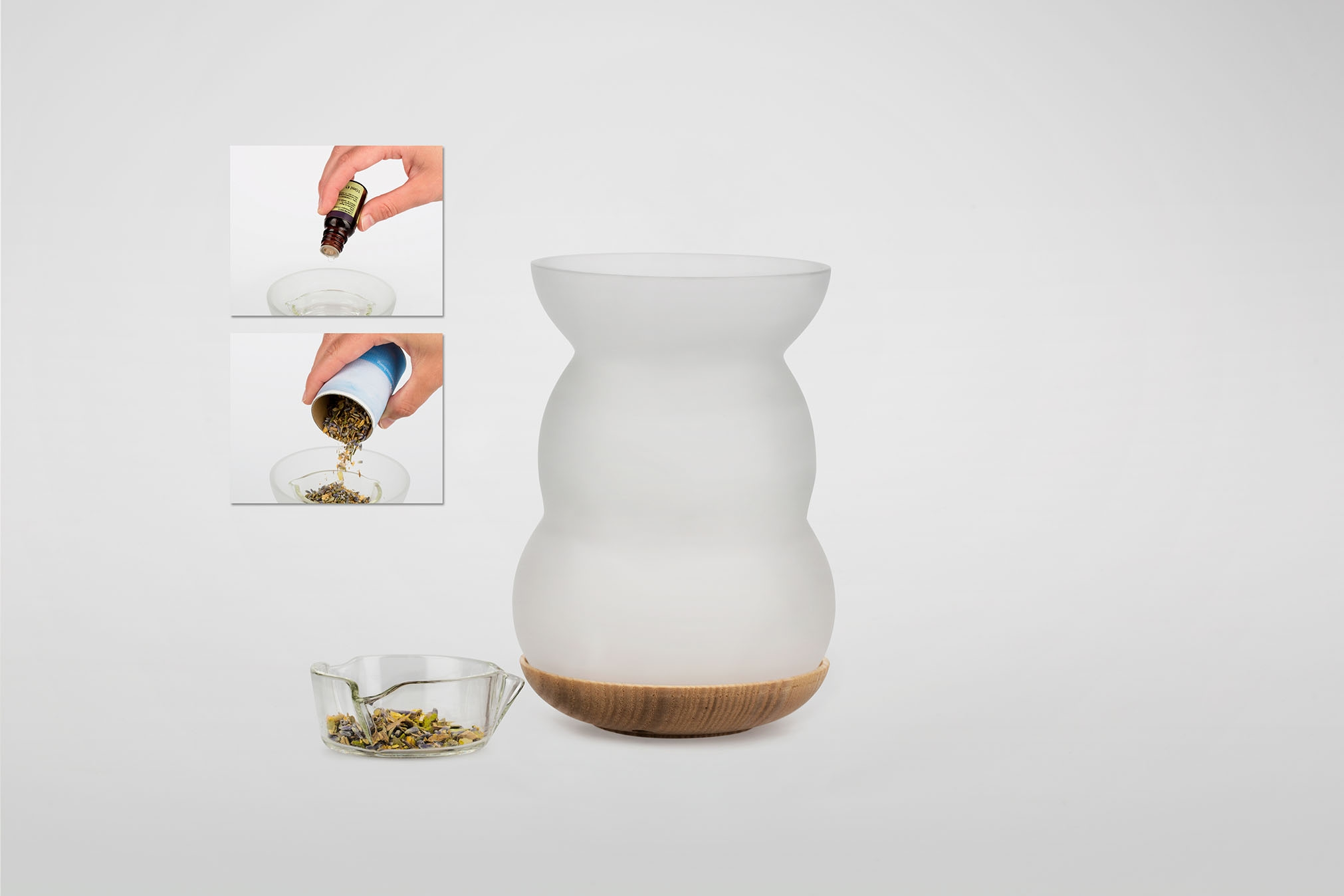 Duft/Aromalampe Lucerna, Lebensblume weiß