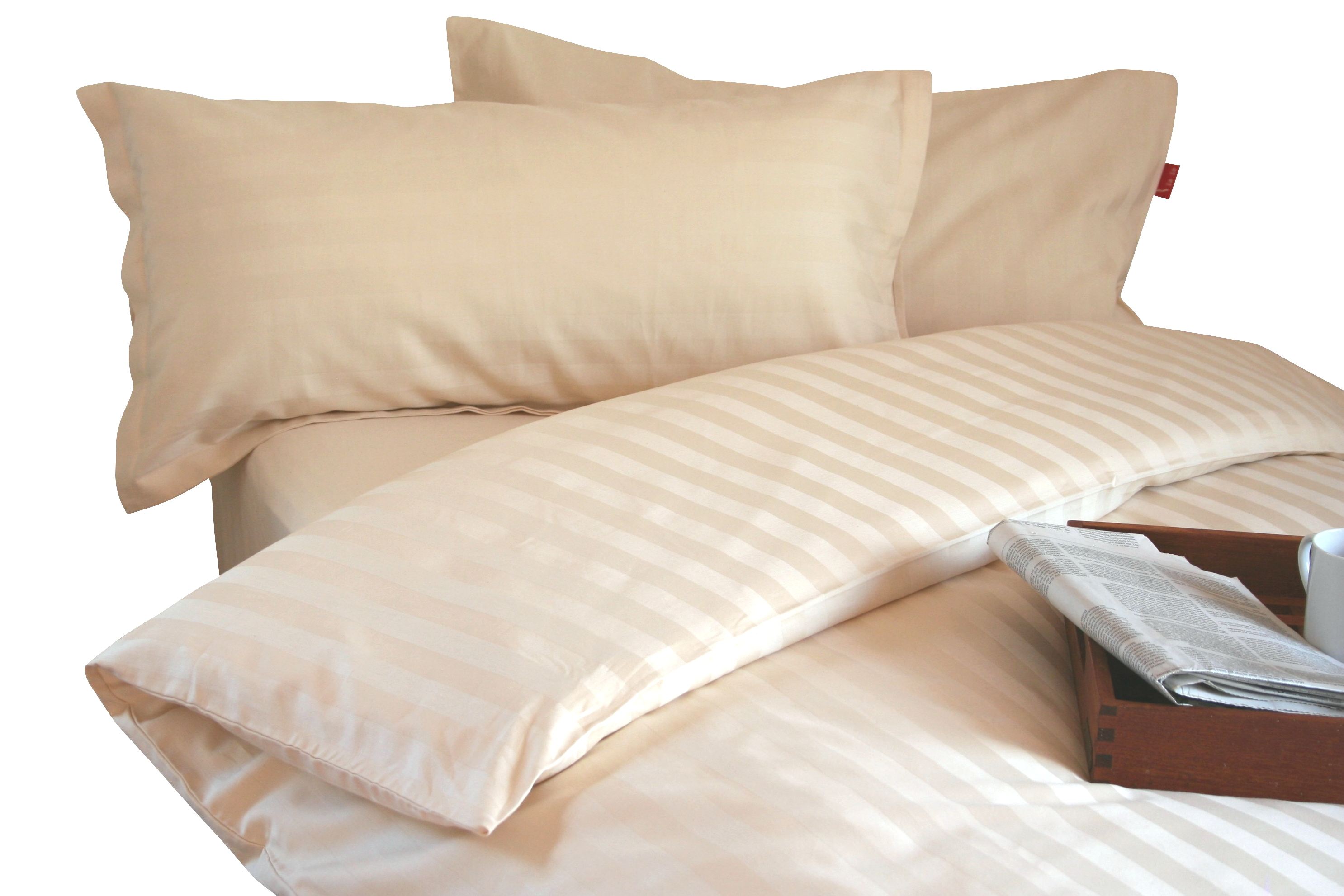 Klassische Streifen Bio-Bettwäsche aus Baumwoll-Satin (kbA) für Singles & Paare