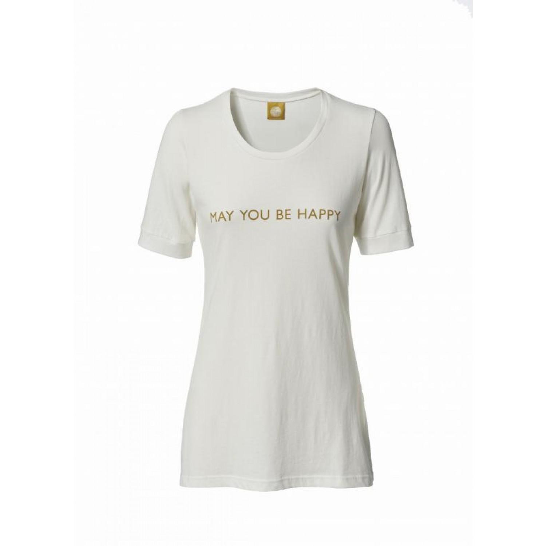 Bio Damen T-Shirt MANI GOLD, weiß
