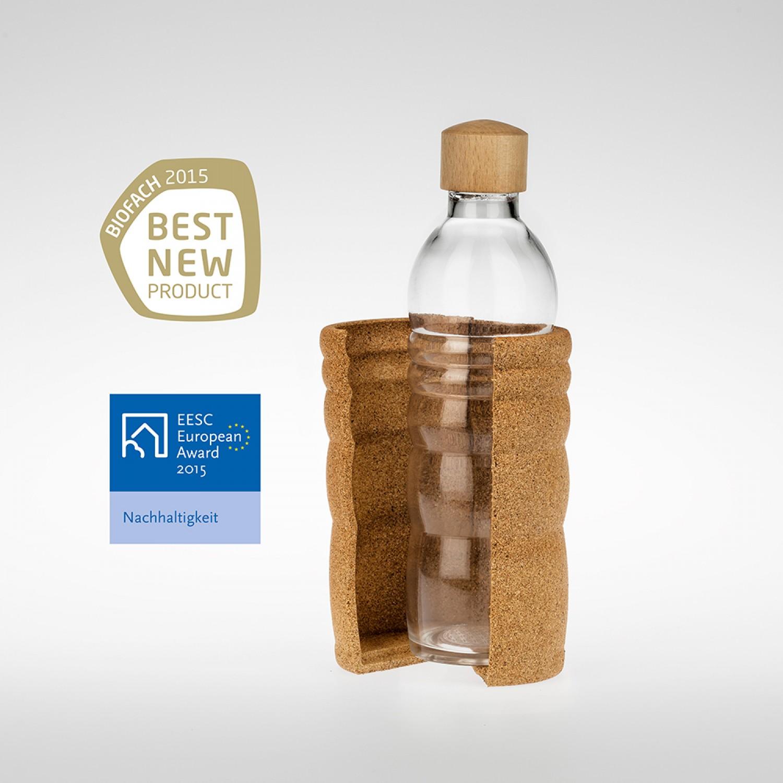 Trinkflasche Thank you 0.5 l mit Korkummantelung