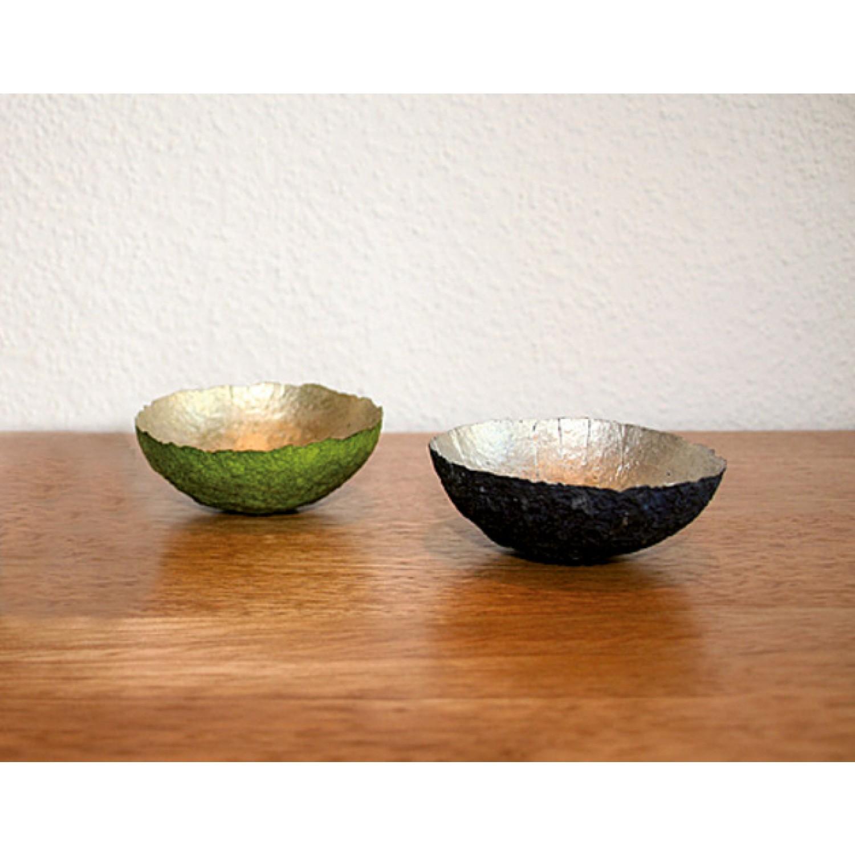 Deko- und Schmuckschale Schwarz/Silber | Sundara Paper Art