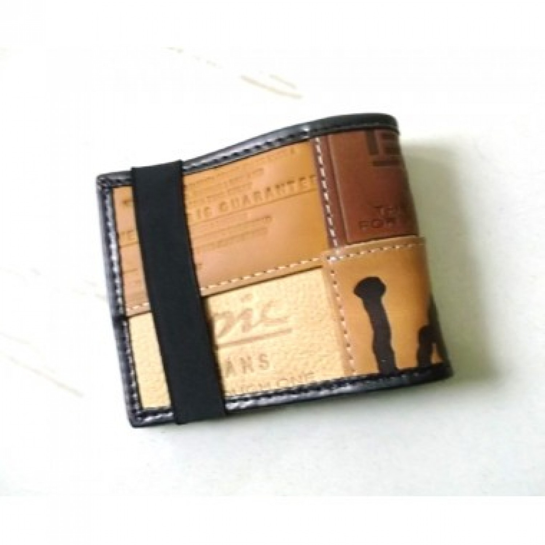 Upcyling-Portemonnaie - Geldbörse Davis | Marron Rouge