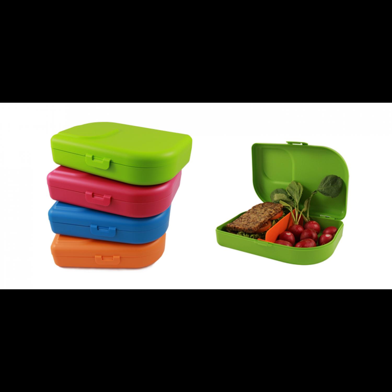 ajaa! Nana Brotbox blau, pink, lime, mandarin - Öko Lunchbox