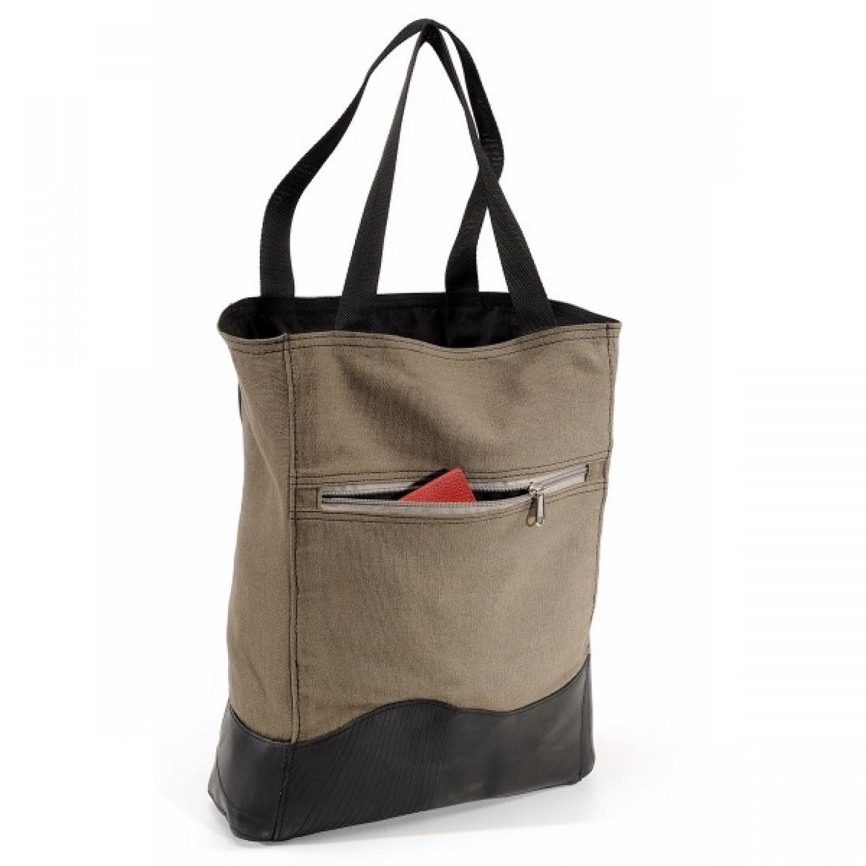 Khaki Einkaufstasche | Upcycling Shopper | Marron Rouge