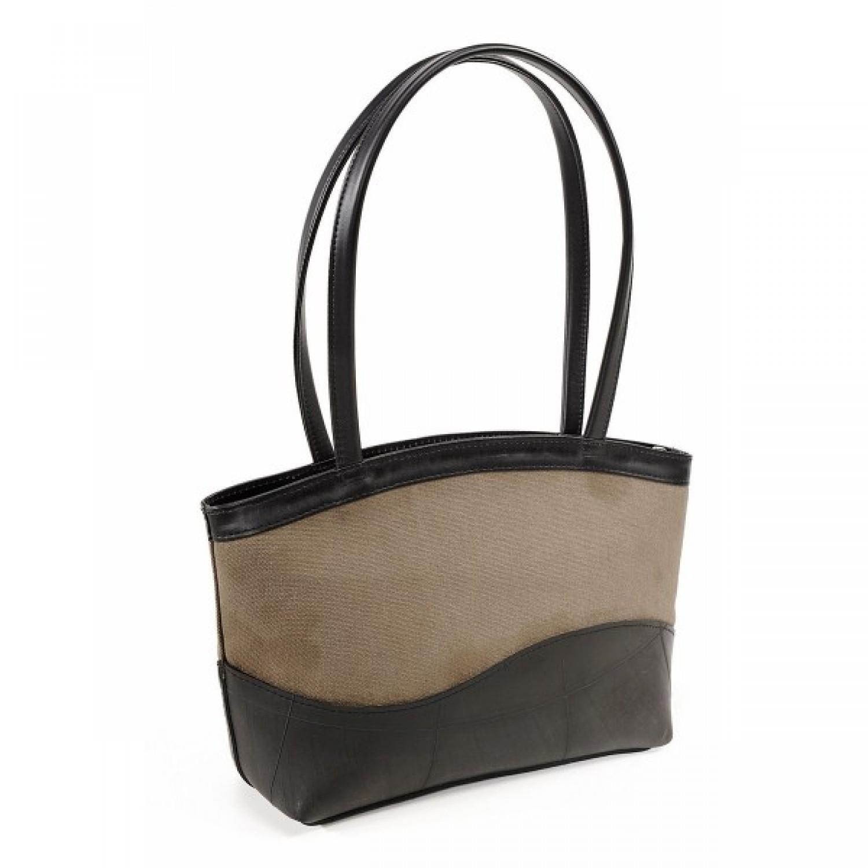 Upcycling Handtasche   Canvas khaki   Florence