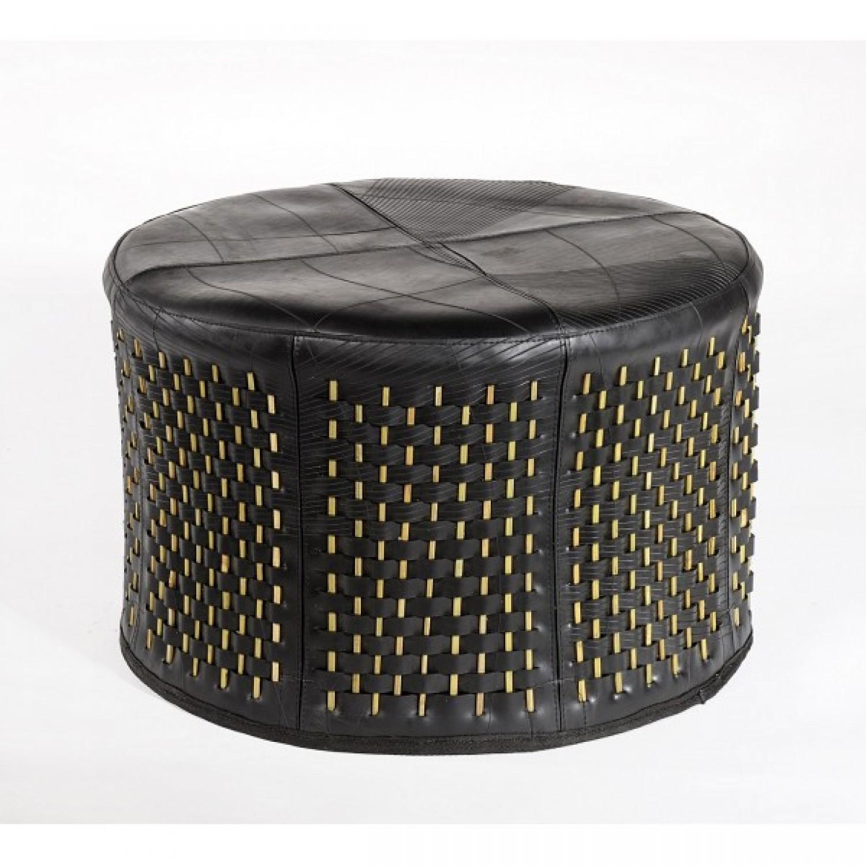 Stick | rundes Sitzkissen | recycelter Schlauch + Bambus