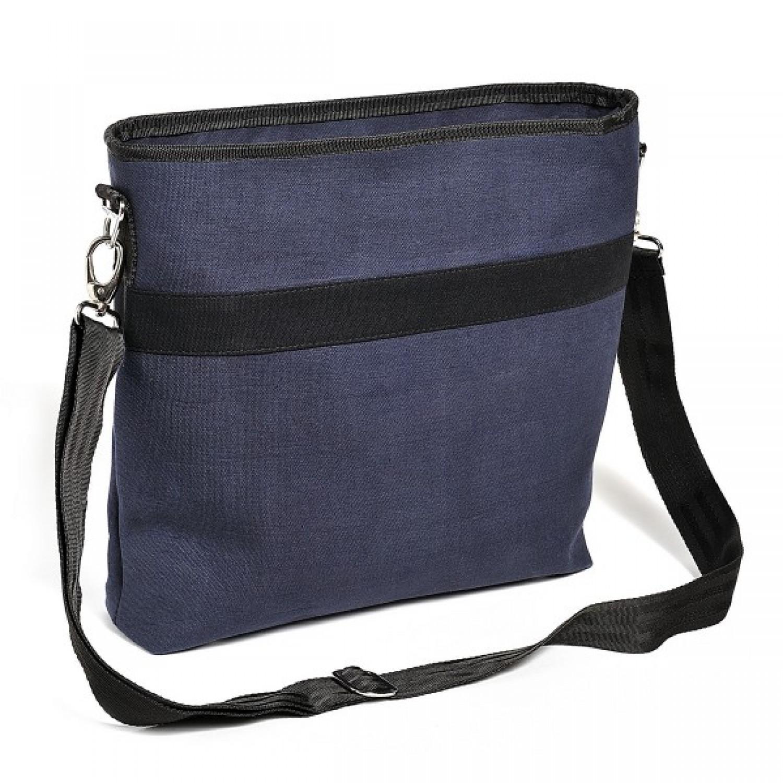 Upcycling Schultertasche aus Canvas & Sicherheitsgurt