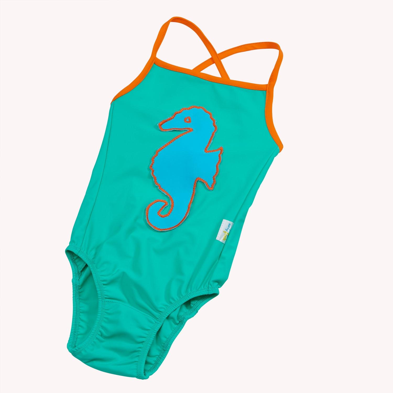Badeanzug Seegrün
