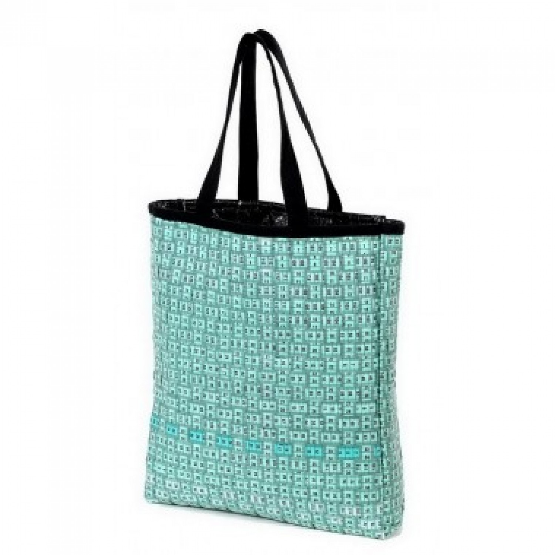 Grüne Upcycling Tasche   Einkaufstasche