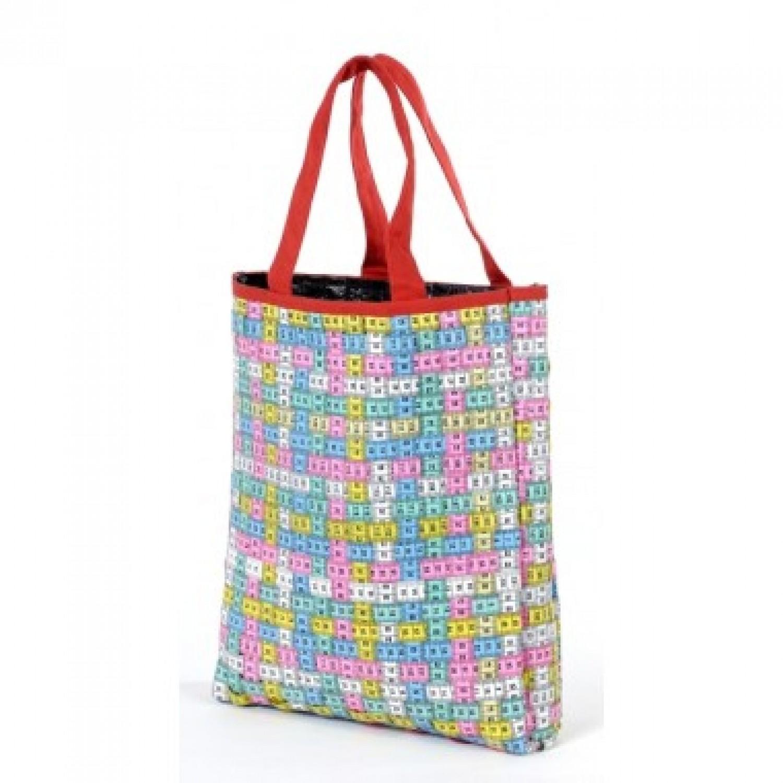 Bunte Upcycling Einkaufstasche