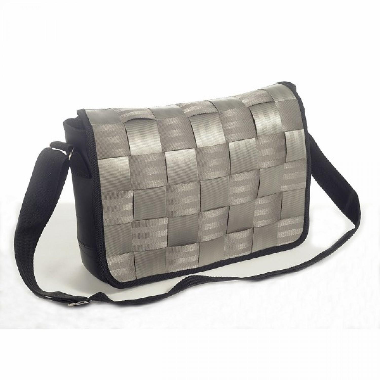 Mistigri | Messenger Bag | Recycling Sicherheitsgurt grau