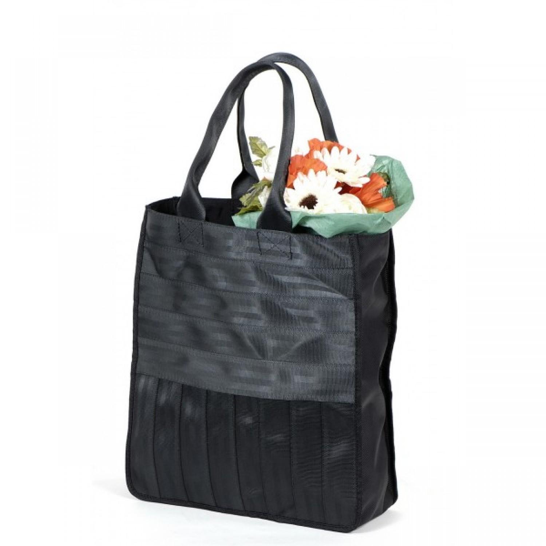 Véronique | schwarze Einkaufstasche | Upcycling Shopper