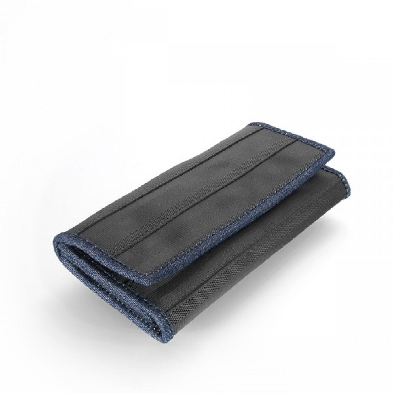 Upcycling Geldbörse aus Sicherheitsgurt & Jeans