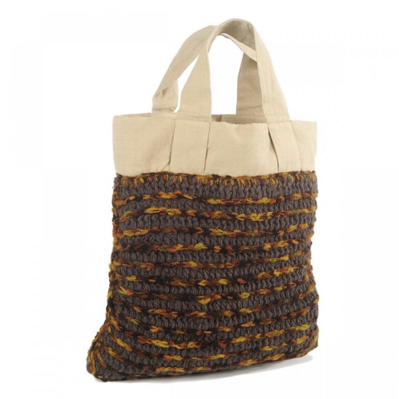 Anjali | Einkaufstasche | Upcycling Shopper | Wolle
