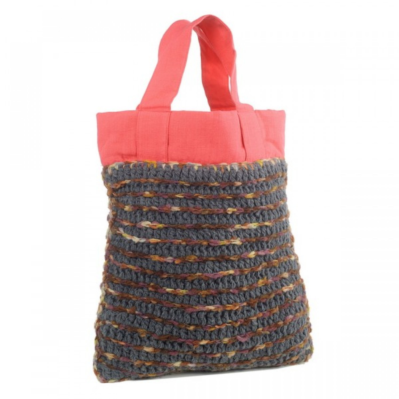 Upcycling Einkaufstasche Anjali - Shopper aus Wolle