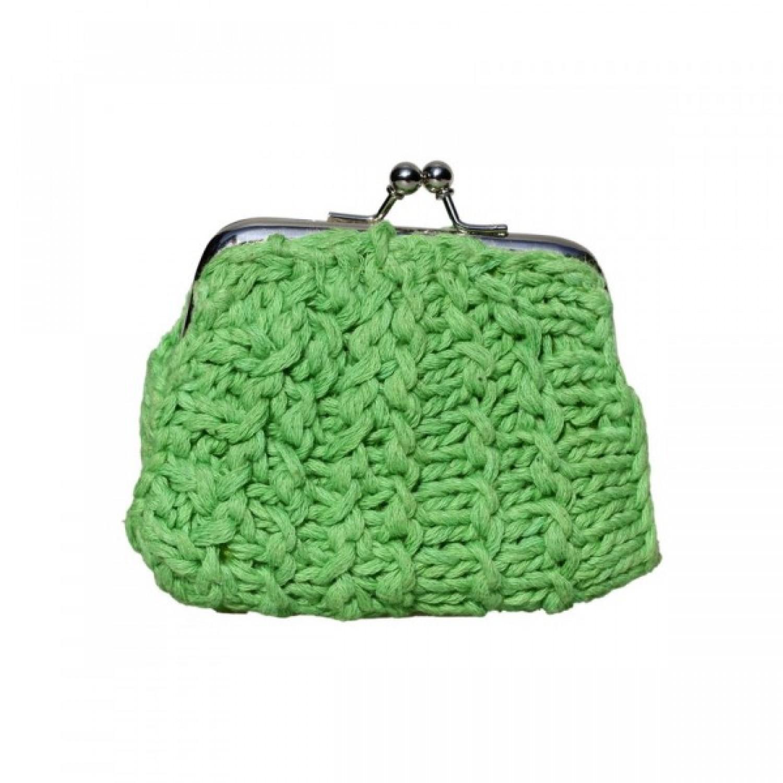 Shanti | Geldbörse aus grünem Recycling Baumwollgarn