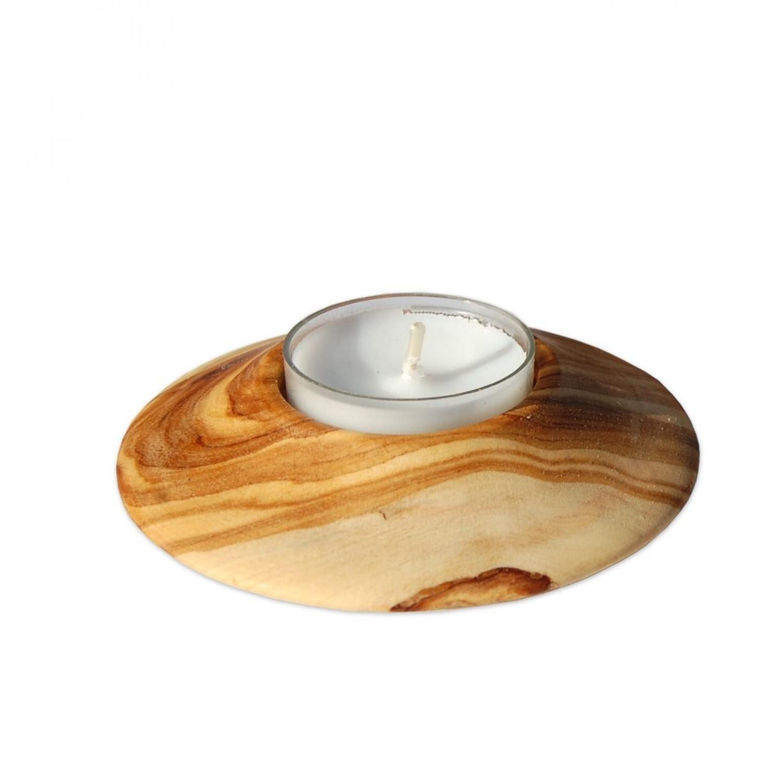 UFO Teelichthalter aus Olivenholz | Olivenholz erleben