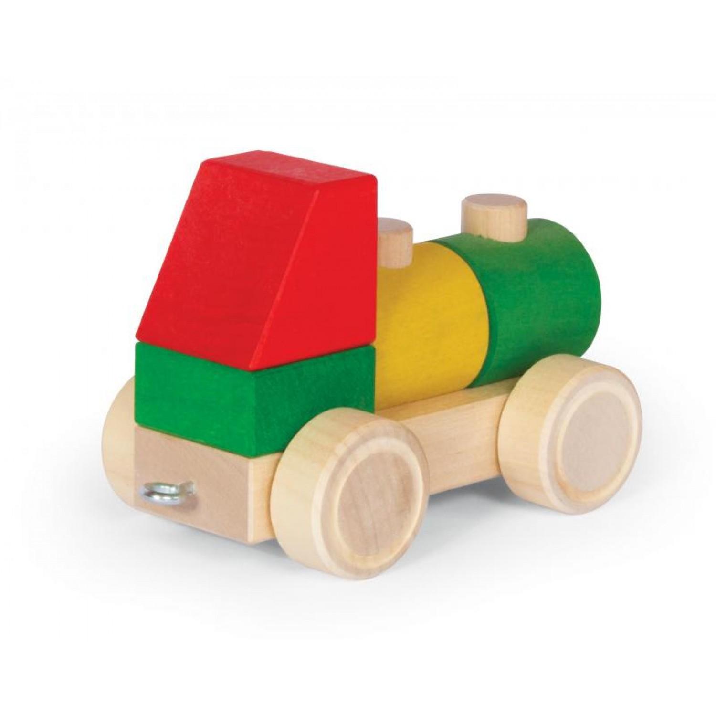 VARIS Steckklötze Fahrzeug 5 aus Öko Holz