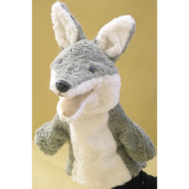 Vegane Handpuppe Wolf aus Bio-Baumwolle   Kallisto