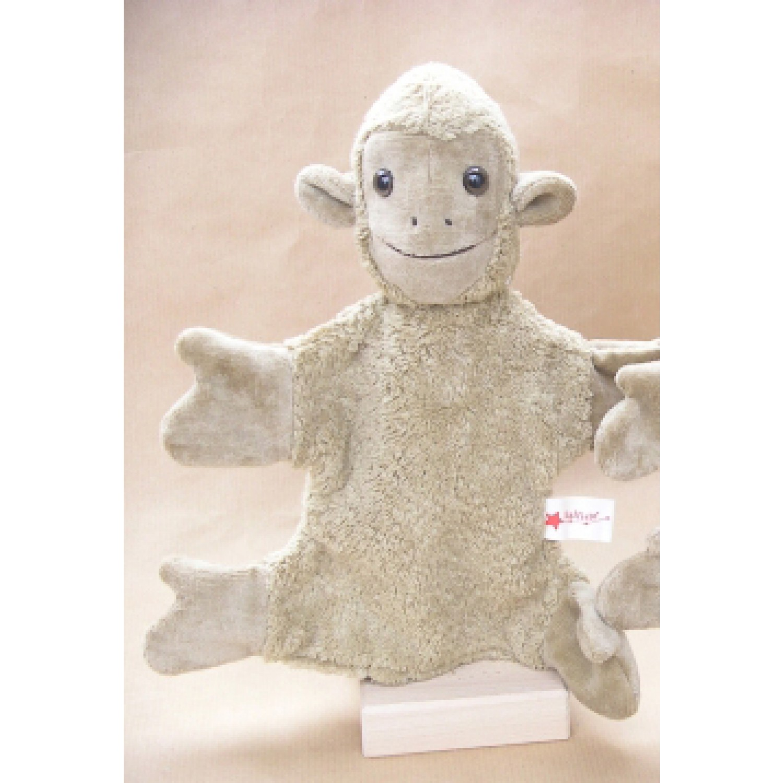 Handpuppe Affe beige – vegan | Kallisto