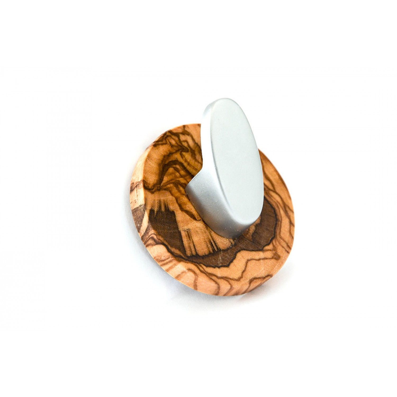 Handtuchhaken »Oval« aus Olivenholz & Edelstahl  | Olivenholz erleben