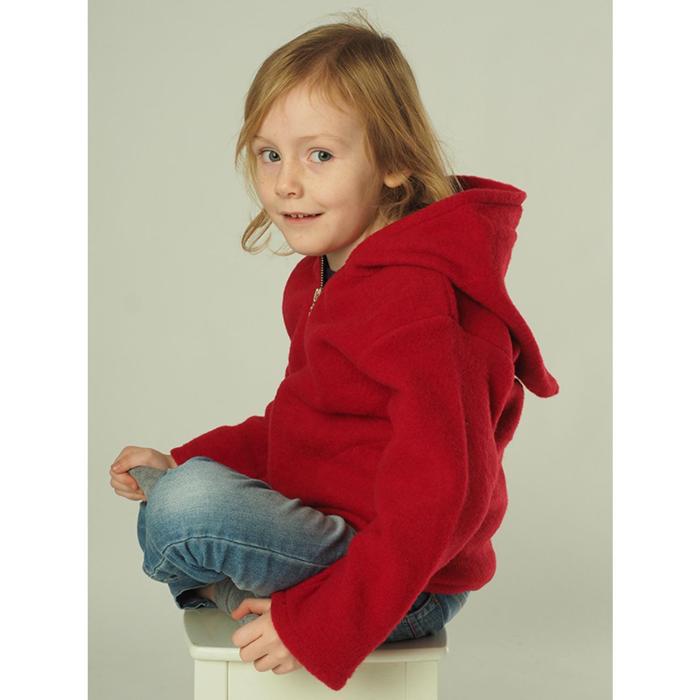 Kinder Fleece Kapuzenjacke aus Bio-Schurwolle | Reiff