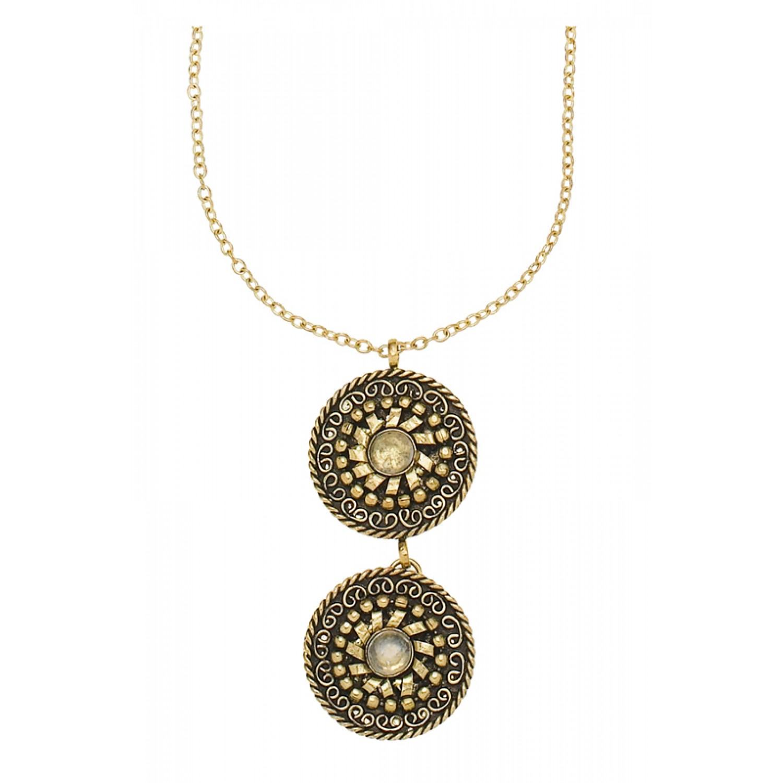 Taja Disk Necklace Brass – Fair Trade Kette aus Messing