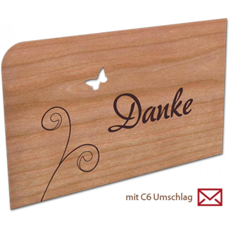 Danke | Grußkarte aus Holz