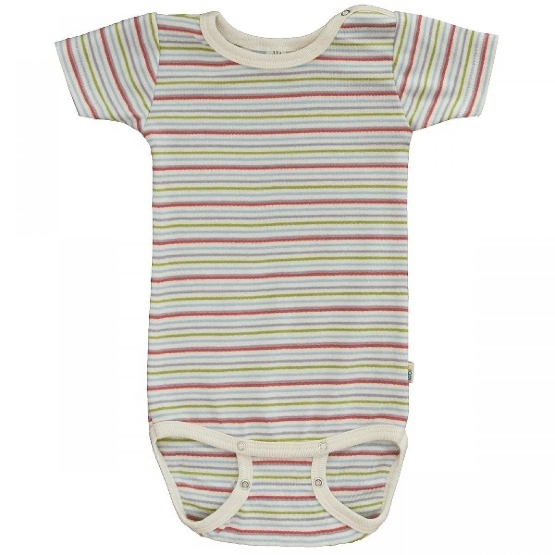 Streifen Babybody halbarm Bio-Baumwolle | Popolini iobio