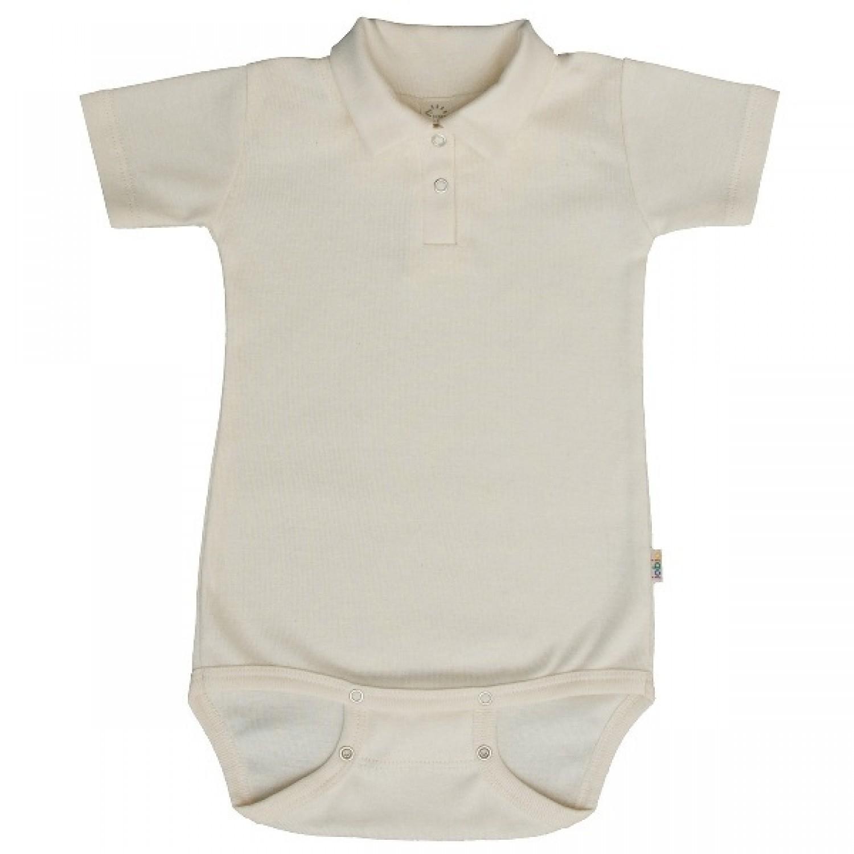 Popolini Polo Baby Body GOTS natur