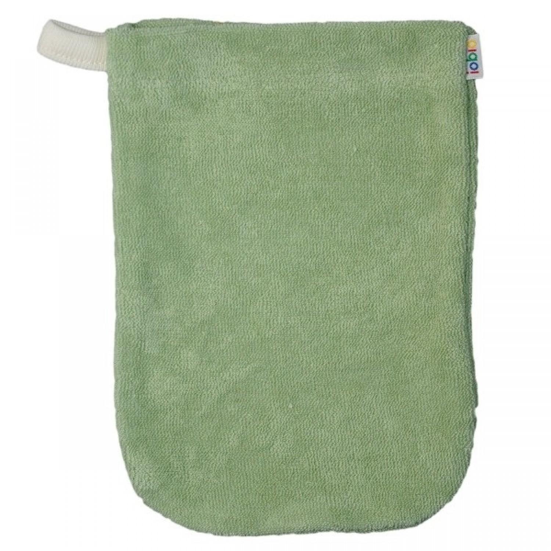 Baby Waschhandschuh aus Bio Baumwolle in Grün | iobio