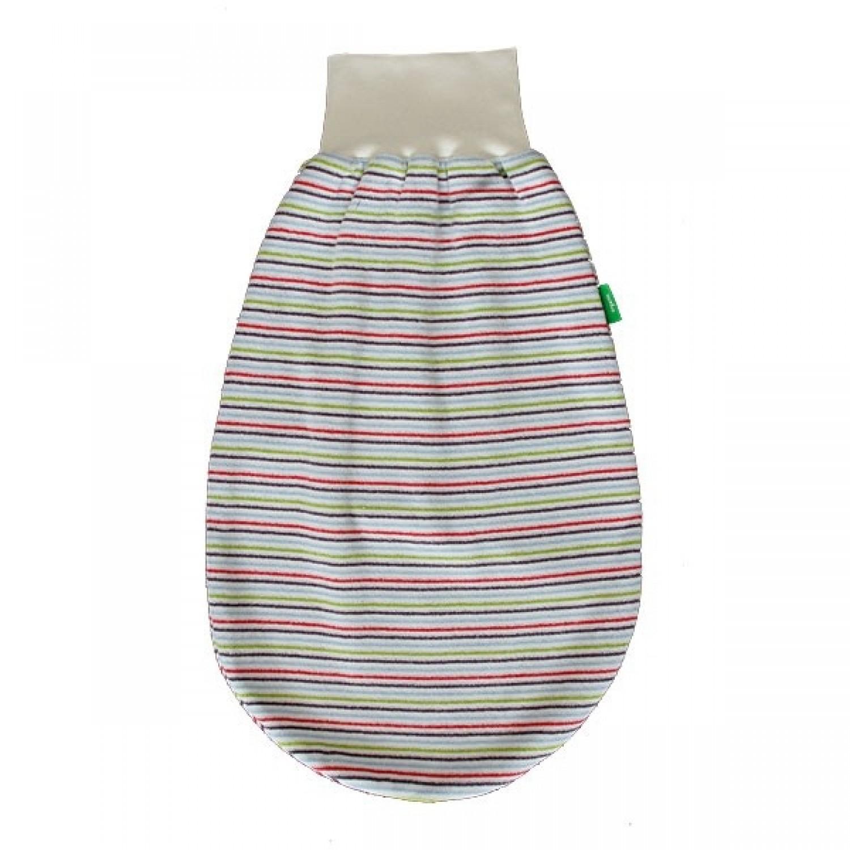 Strampelsack, geringelt, aus Bio-Baumwolle | Popolino iobio