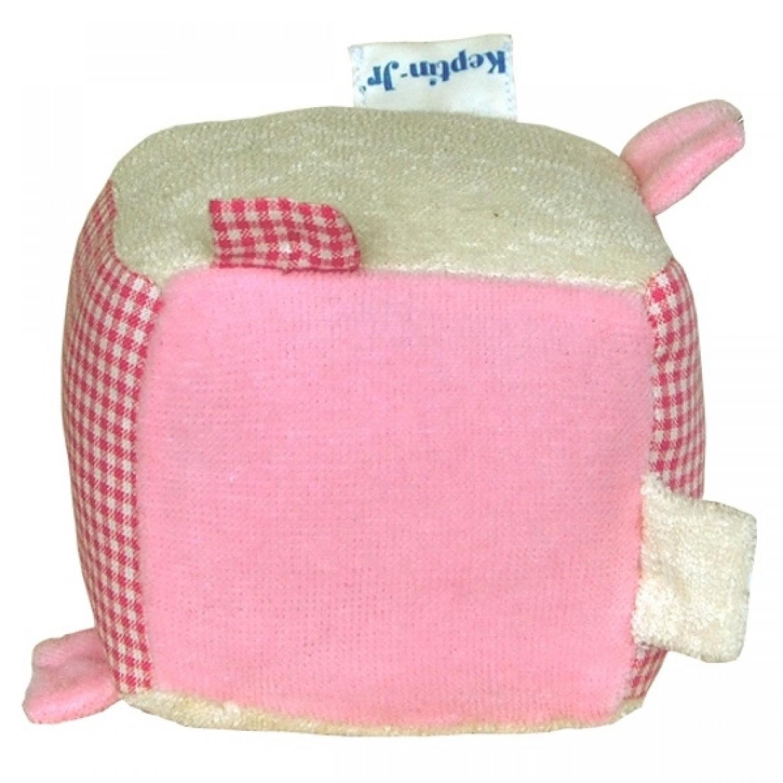 Blankiez Rassel Würfel Rosa Bio Babyspielzeug | Keptin-Jr.