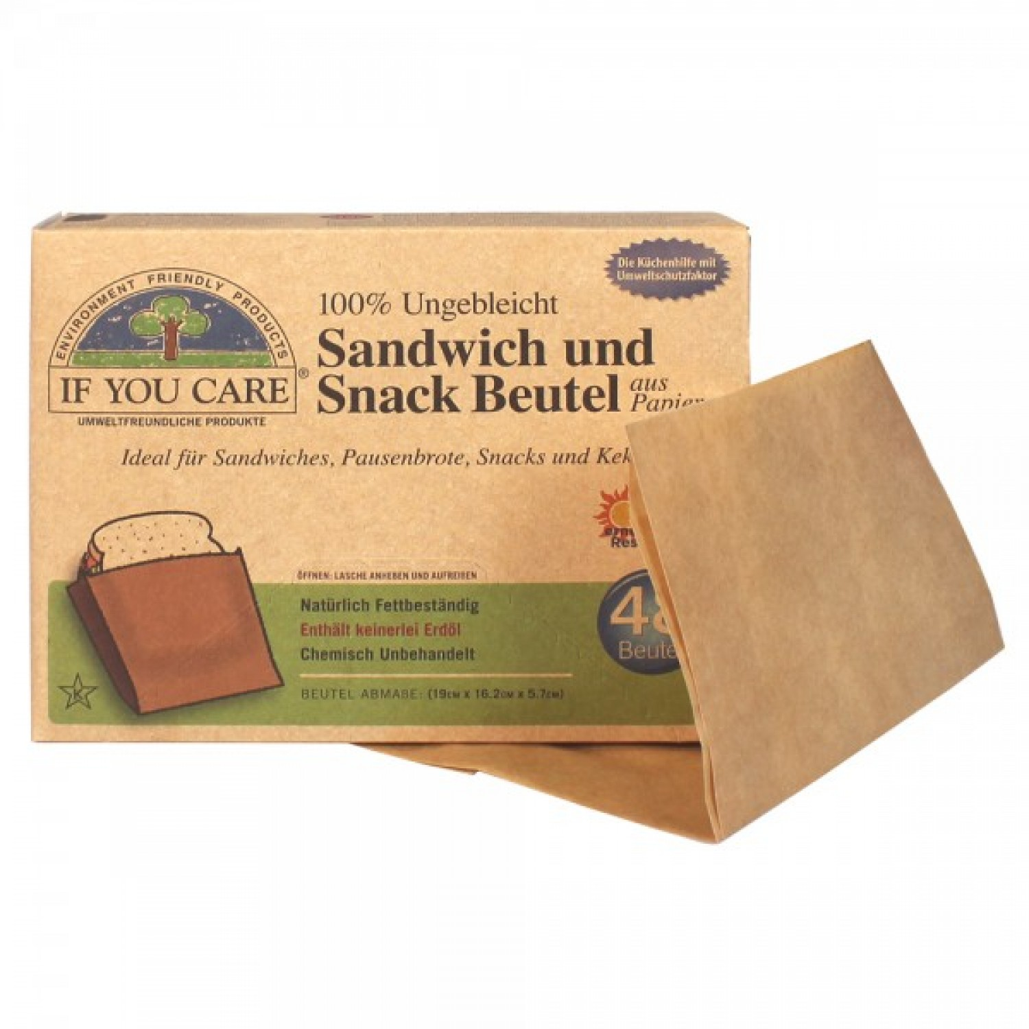 If You Care vegan Sandwich und Snackbeutel 48 St. | IYC