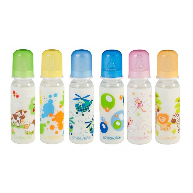 Baby Trinkflasche, BPA frei, farbig sortiert | BABY NOVA