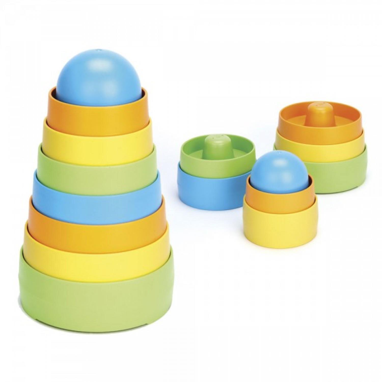 Stapelturm aus Recycling-Plastik | Green Toys