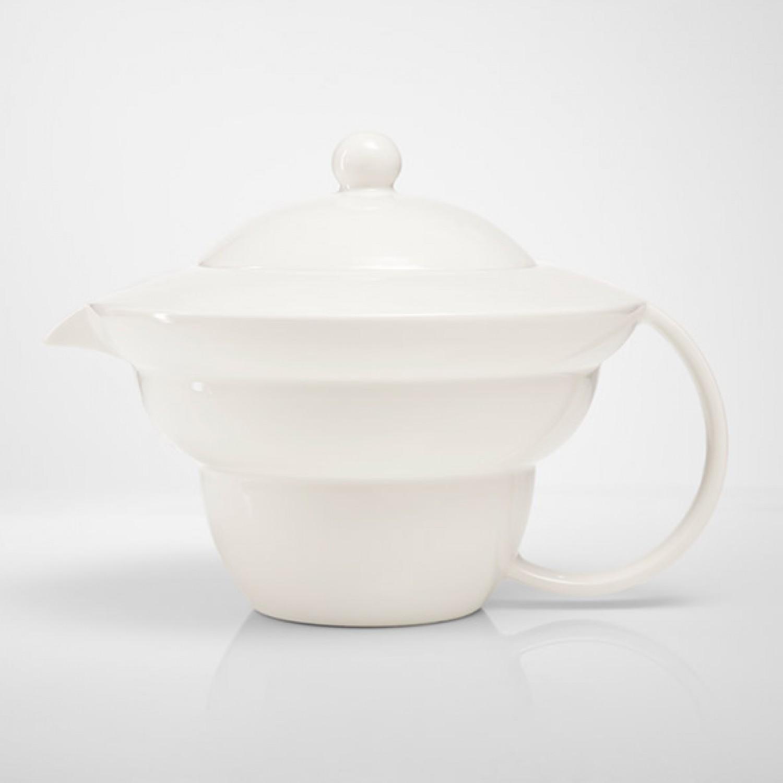 Teekanne Shinno 1,0 l, Lebensblume silbergrau