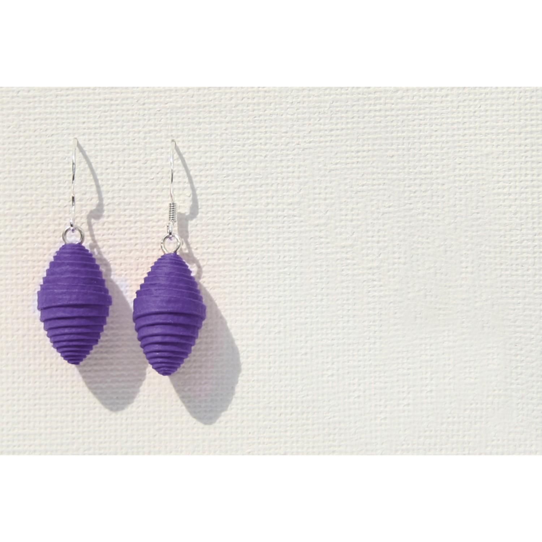 Fair & Öko Papier Ohrringe Violett | Sundara Paper Art