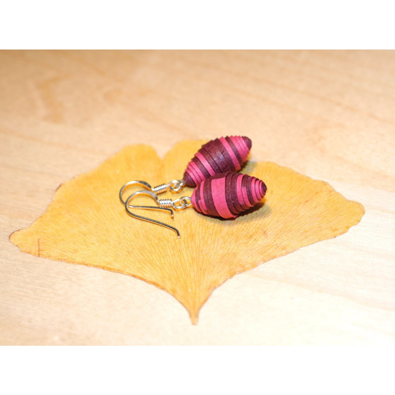 Ohrringe Brombeere aus Öko Papier