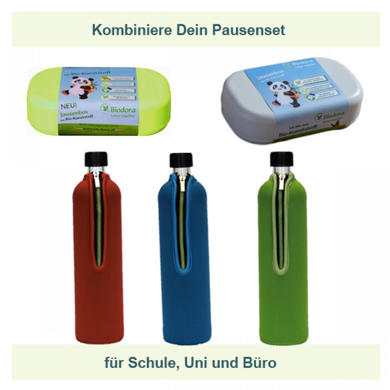 Pausenset mit Lunchbox und Trinkflasche