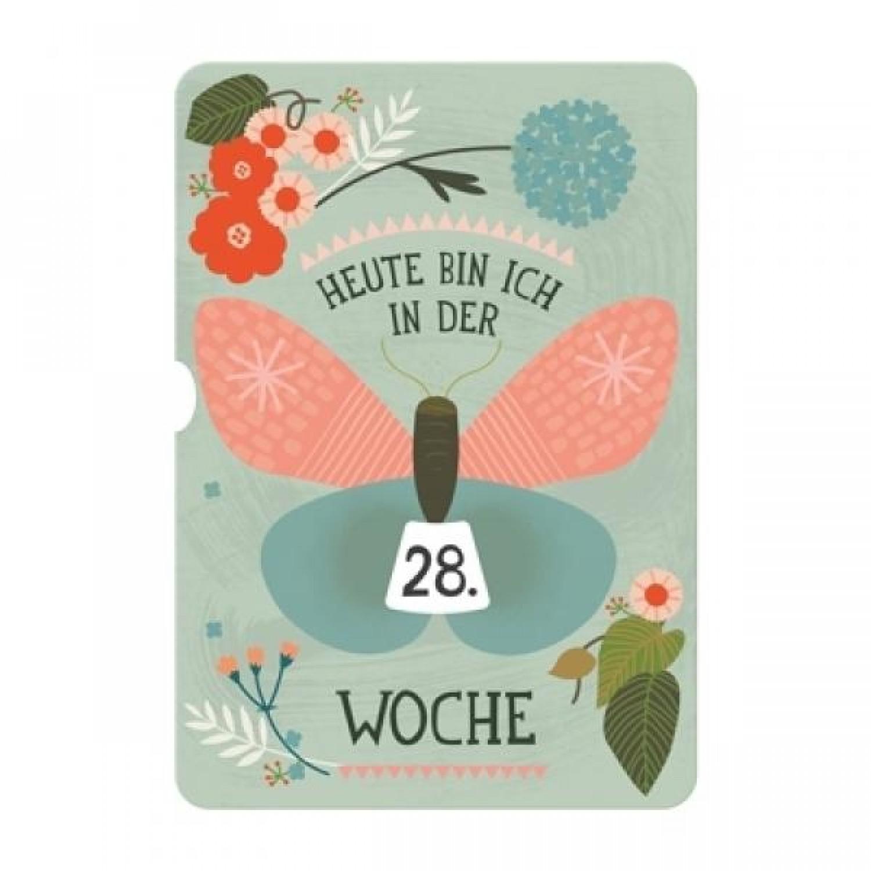 Milestone Turn Wheel Fotokarte - Schwangerschaft - Deutsch